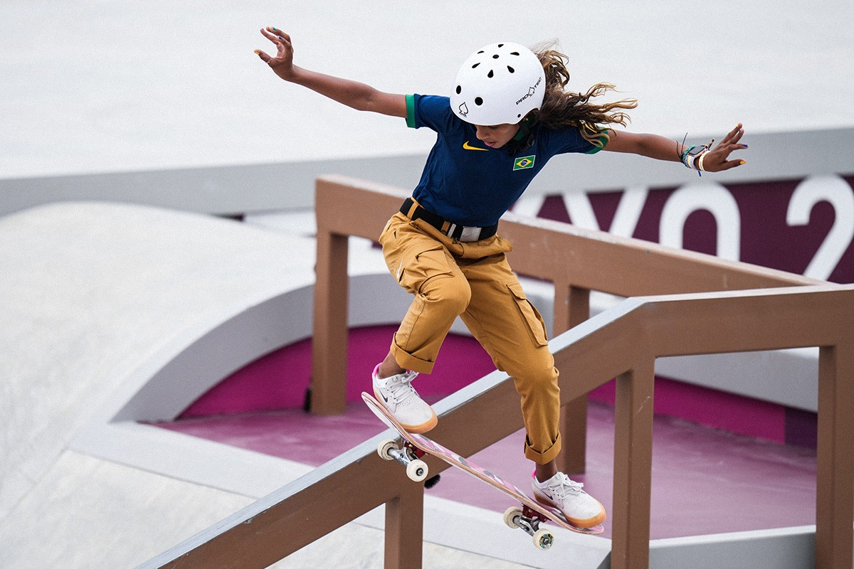 Exibição Rayssa Leal nas olimpiadas de tokyo