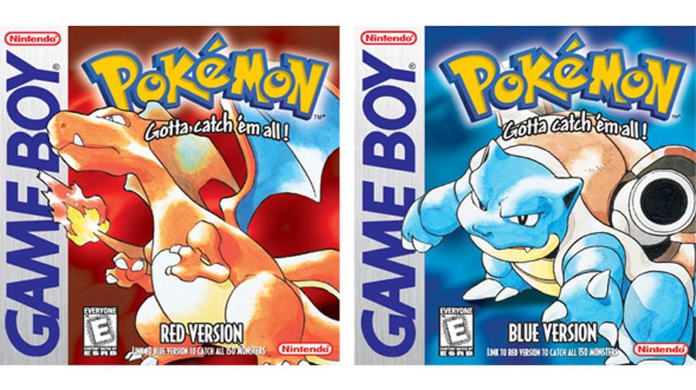 Capas do jogo pokemon Red e Blue